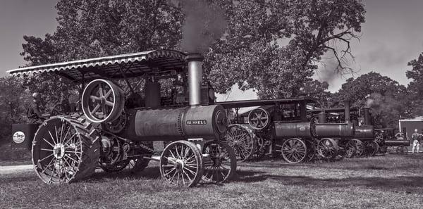 Russell Steam Powered Tractor Restored Classic Farm fleblanc