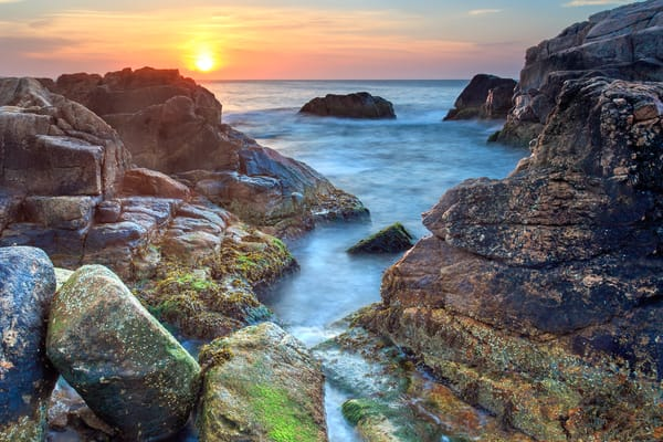 """Hazard Rocks Sunrise"" Narragansett Beach Rhode Island Fine Art Seascape Photography"
