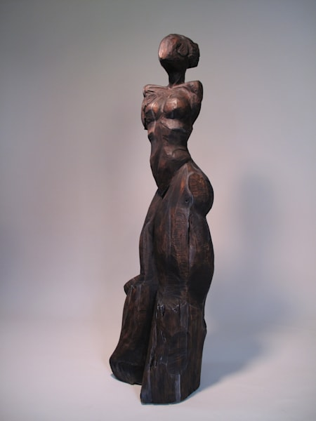Buy Chainsaw Carved Human Figure Wood Sculpture