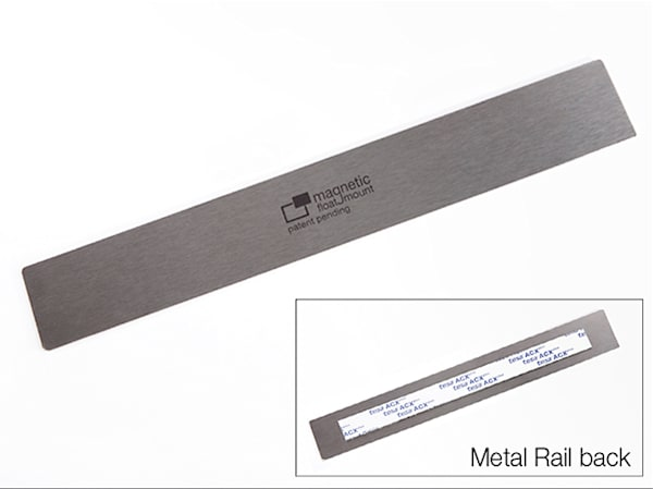 100 Qty   Metal Rail With Acx Plus Tape For Print Reorders / #Mfmmt 100 | Magnetic Float Mount