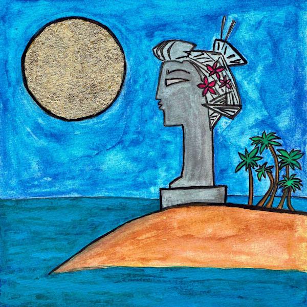 Island Memories Original Watercolor Painting by Wet Paint NYC Artist Paul Zepeda