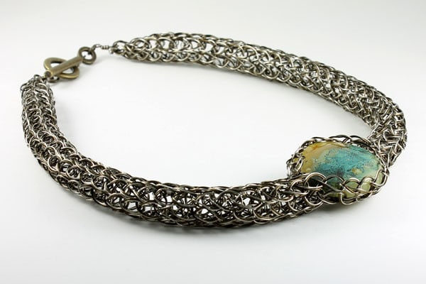Knitted Copper Wire Necklace | Southwest Jewelry Tucson