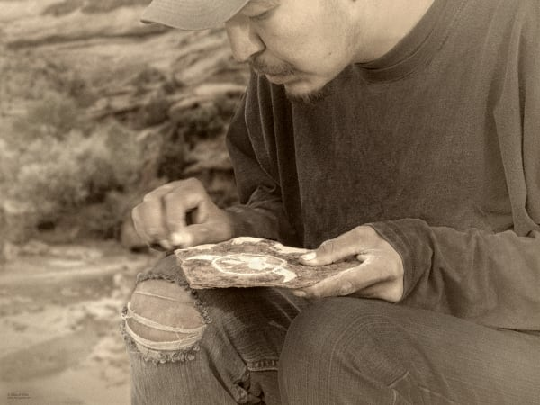 Navajo Stone Carver- d'Ellis Photographic Art photographs, Elsa