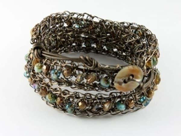 Bracelet of copper & glass beads | Southwest Jewelry Tucson