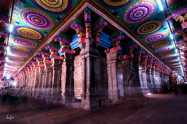 Colorful Meenakshi Temple, fine art photograph print