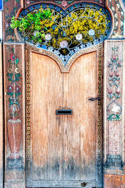 Paris heart door, photograph art print