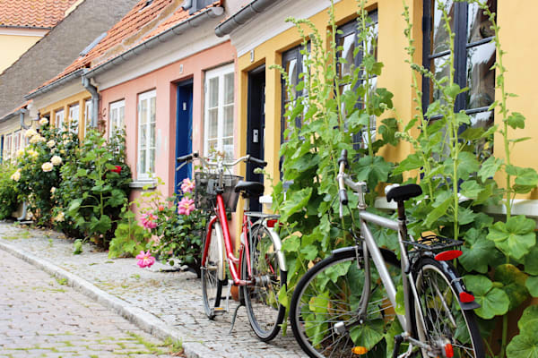 Danish village bicycles for sale as art