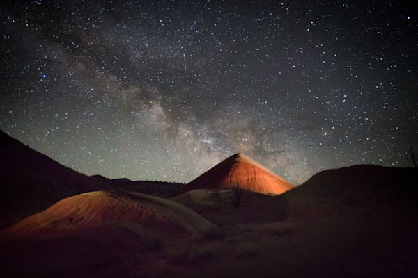 Milky Way Over Painted Hills Photography Art by Barb Gonzalez Photography