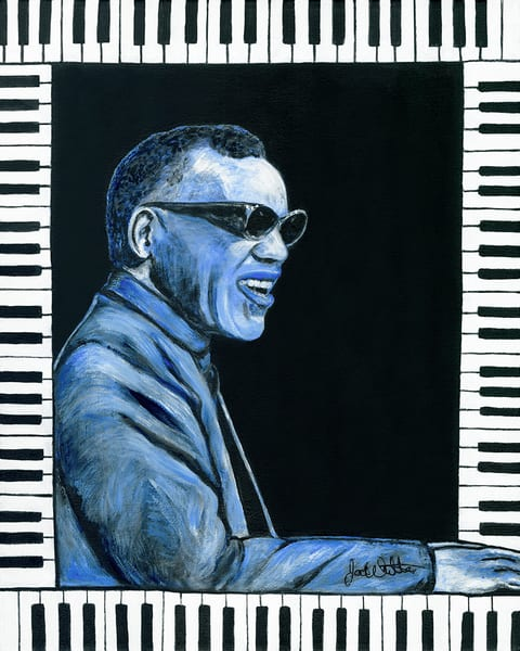 Ray Charles Jazz Print