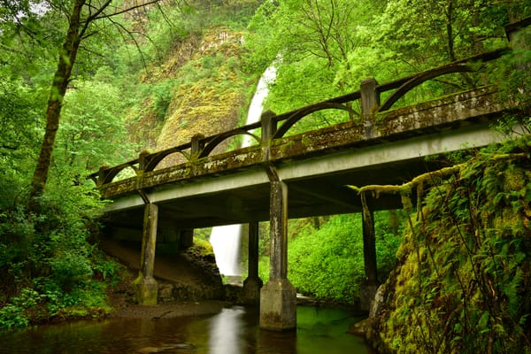 Horsetail Falls Bridge along the Old Columbia Highway - River Gorge, Oregon - Fine Art Prints on Metal, Canvas, Paper & More By Kevin Odette Photography