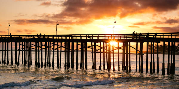 """Summer Sunset at the Pier"""