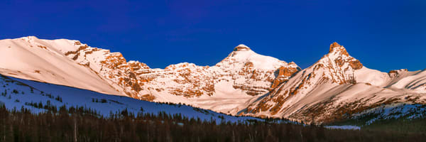 Boundray & Hilda Peaks. Banff National Park|Canadian Rockies|Rocky Mountains|