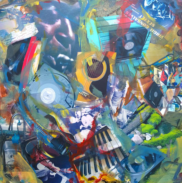 Buy All that Jazz - High Quality Print of Mixed Media original Dream  Mood