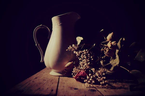 Pitcher And Roses Photography Art | Sage & Balm Photography