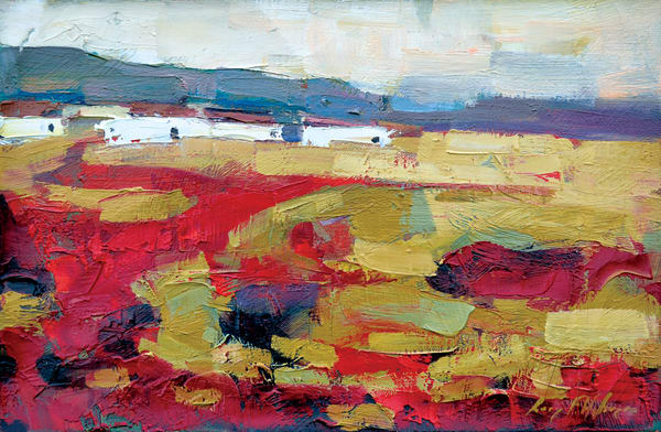 Landscape In Ochre and Red