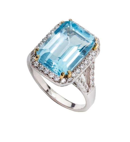 Sterling Silver Blue Topaz Ring | Southwest Jewelry & Art