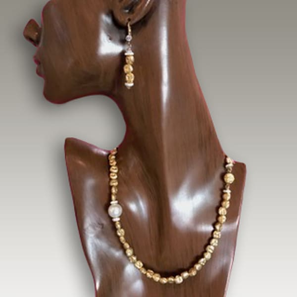 Gold & Pearl Necklace Earrings | Southwest Jewelry Tucson