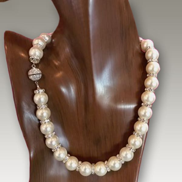 White Shell Pearl & Silver Necklace | Southwest Jewelry