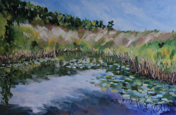 """""""Ridge Beyond The Pond"""" by Joan Fotopoulos 