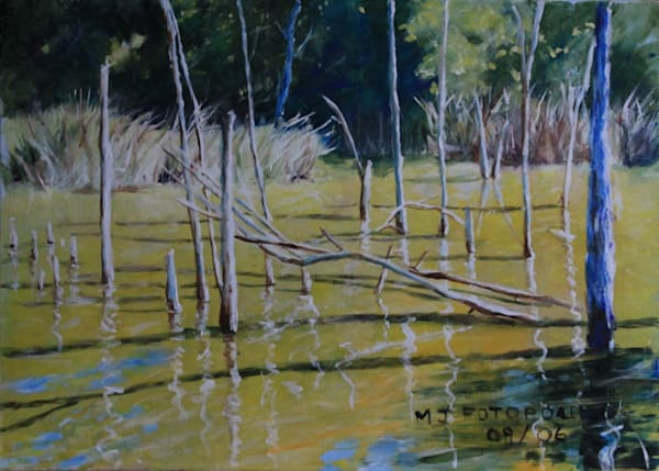 """""""Pond Of Gold"""" by Joan Fotopoulos 