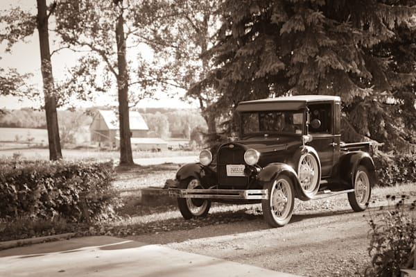 Ford Model A On The Farm Photography Art | Sage & Balm Photography