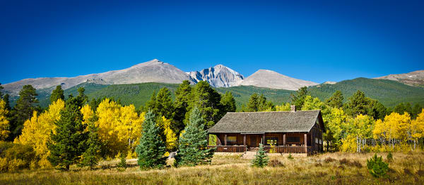 Colorado Landscape Photo of Cedar Ranch & Longs Peak Fall Colors