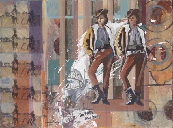 Free as a Bird art for sale. Western art that highlights empowered women.