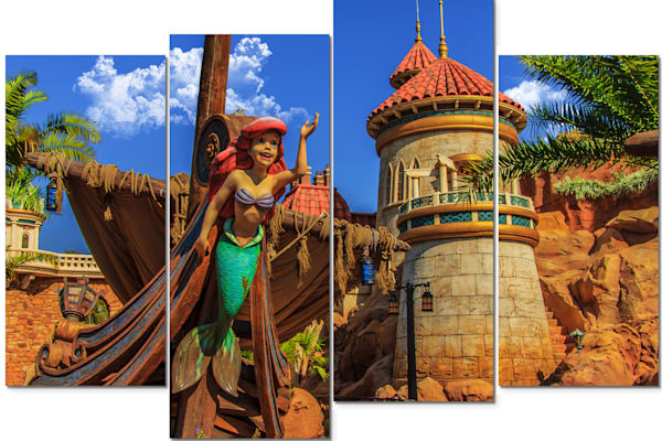 4-Piece Disney Canvas Wall Art - Ariel | William Drew