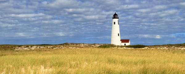 """Great Point Lighthouse Panorama"" Nantucket Fine Art Coastal Dunes Photography"