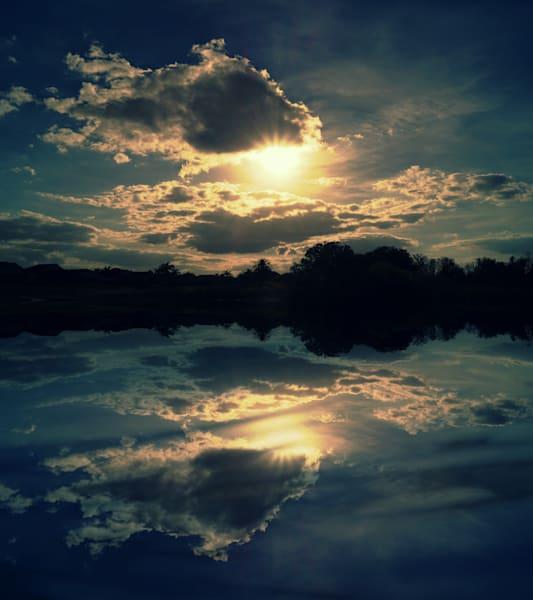 Sunset Reflection Photography Art | Sage & Balm Photography
