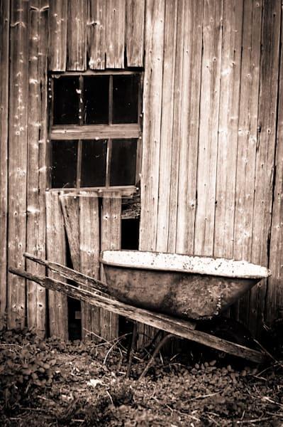 Wheelbarrow by the Barn