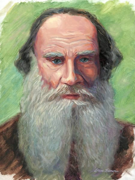 Portrait Painting of Leo Tolstoy by Steve Simon