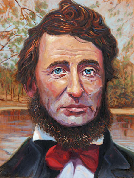 Henry David Thoreau Portrait Painting