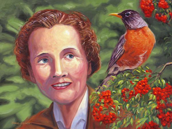 Oil painting portrait of Rachel Carson by Steve Simon