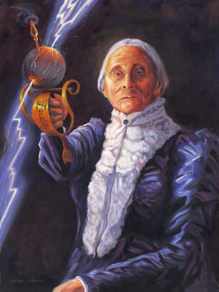 Susan B. Anthony portrait painting by Steve Simon