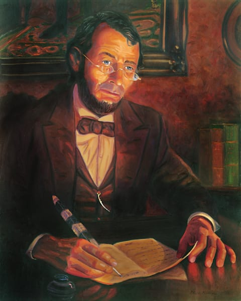 Abraham Lincoln Portrait Painting by Steve Simon