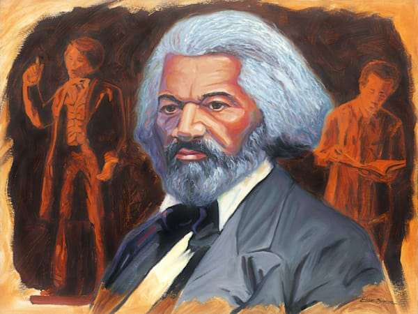 Frederick Douglass Portrait Painting by Steve Simon