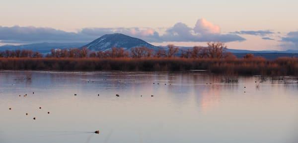 lower Klamath Lake sunset