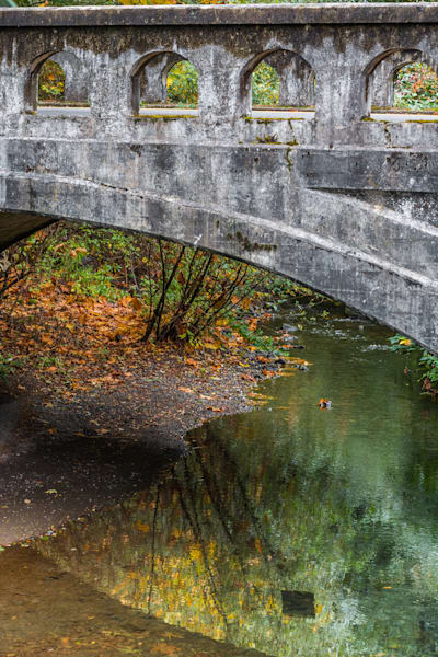Autumn bridge photo for sale | Barb Gonzalez Photography