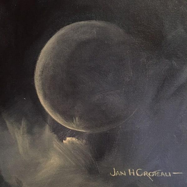 Full Moon, dramatic light, vibrant moonscape, acrylic painting