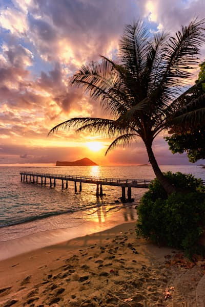 Beach Photography | Pier of Waimanalo by Peter Tang