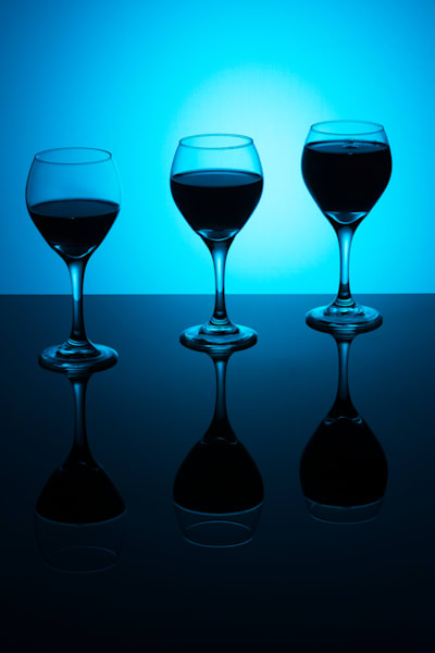 Fine Art Photographs of Several Wine Glass Reflections by Michael Pucciarelli