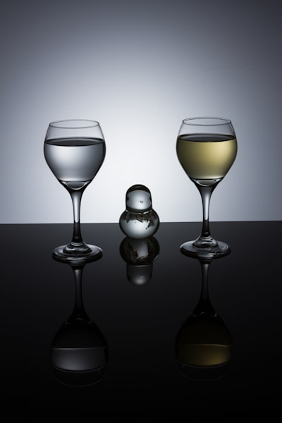 Fine Art Photographs of Romantic Wine Glasses Reflections by Michael Pucciarelli