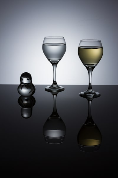 Fine Art Photographs of Wine Glasses With Reflections by Michael Pucciarelli