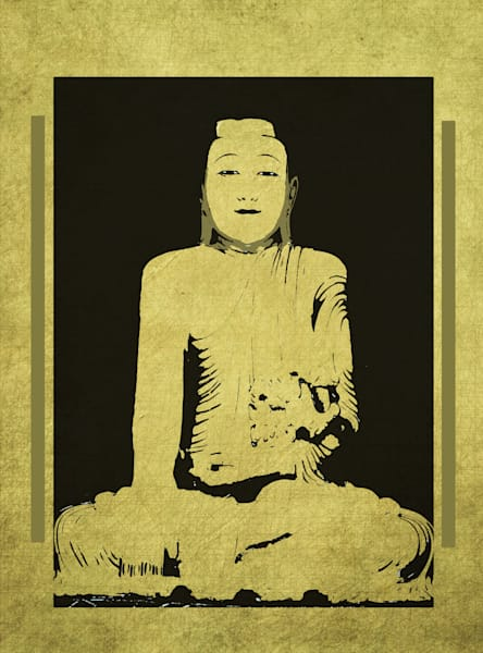 Gautama Buddha Rectangle Format Art paintings for sale | Grimalkin Studio