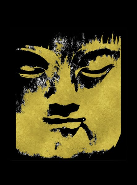 In the Shadow of the Golden Buddha Rectangle Format Art paintings for sale | Grimalkin Studio