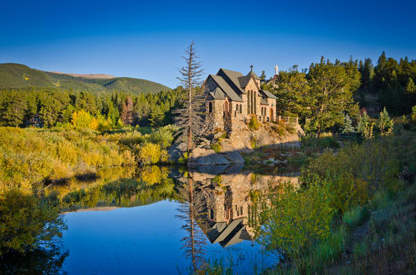 Landscape Photo Saint Malo's Chapel Allenspark Colorado