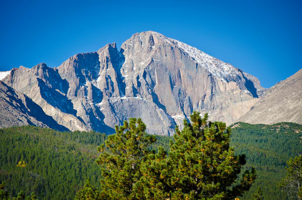 Landscape photo of Longs Peak taken in Allenspark Colorado