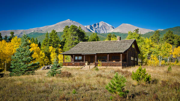 Colorado Landscape Picture Old Cedar Ranch Home Longs Peak