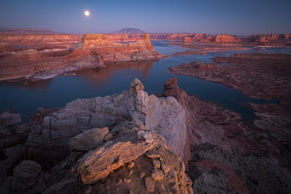 Supermoon Over Lake Powell Photograph for Sale as Fine Art